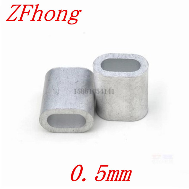 1000PCS M0.5 0.5mm Oval Aluminum Sleeves Stainless Steel Wire Rope ...