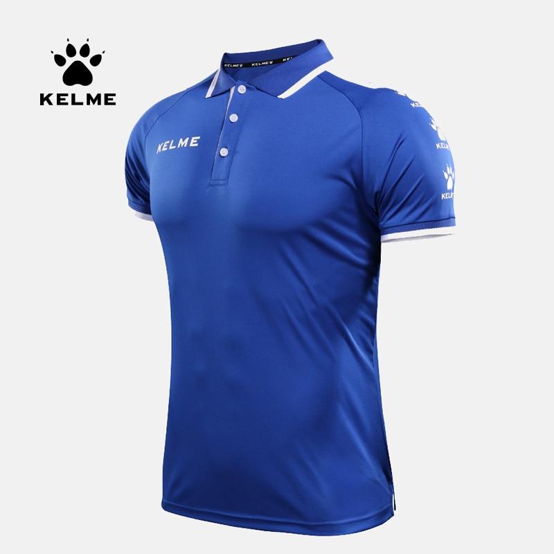 KELME men summer training garment sports shirts short sleeve polo tops 3871004