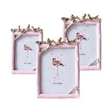 Creative Resin Tree Bird Photo Frame Simple Geometry Plant Specimen Crafts Wedding Gift Home Decoration Ornaments