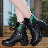 Dancing Shoes Kobieta Kwadratowych Skórzane Koronki Tkaniny Oddychające Buty Sportowe Buty Kobiet Buty Do Tańca Taniec Nowoczesny Buty Netto Boot