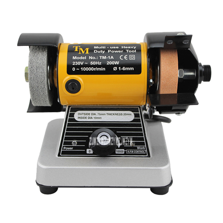 New Arrival Desktop Double-headed Grinding Machine Grinding Wheel Grinding Machine Grinding tools 0-10000r/min 200w 230v 1-6mm 4 inch 6 inch straight cup diamond grinding wheel for glass edger straight line double edging beveling machine m009