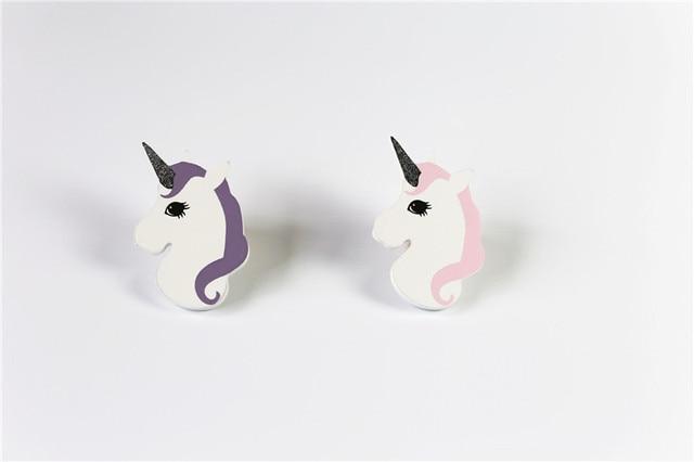 2pc creative wooden unicorn hooks home decor baby room coat hanger hook nordic best gifts for - Christmas Ornament Hooks