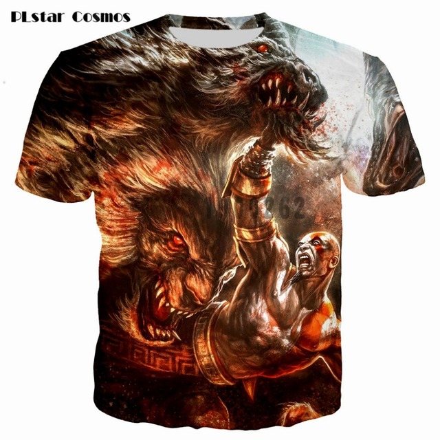 Kratos 3D T shirt Men God of War print Short Sleeve fashion tshirt summer t shirts men/boy homme Camisetas plsus size S-5XL 5