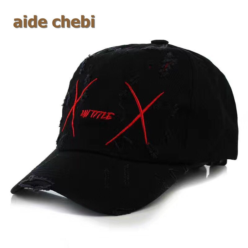 Hot Sale 2017 BTS LIVE WINGS WINGS Fashion K POP Hats Baseball Cap Adjustable 100% Handmade Holes Trucker cap For Man Wome bone got 7 mark bts suga shinee key kris fashion k pop iron ring hats adjustable baseball cap100% cotton 100% hand made hat