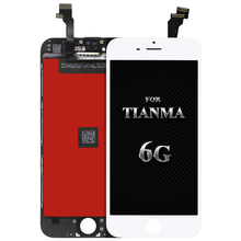 For tianma quality 10pcs for iPhone 6 LCD New Display Touch Screen Digitizer Assembly Replacement Parts  Shipping+Camera holder