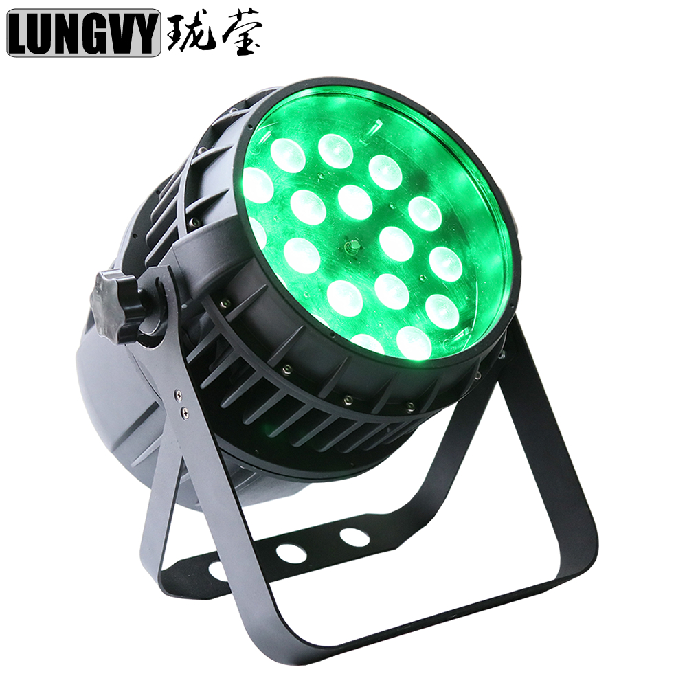 Free Shipping Waterproof 18x12W RGBW 4in1 Zoom Led Par Light Led Stage Decoration Dj Zoom Outdoor Par Cans free shipping 16 lot dmx 18x10w rgbw led par can light for stage decoration