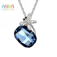 Crystal Jewelry Dragonfly Pendant Necklace Made With Swarovski Elements 91599