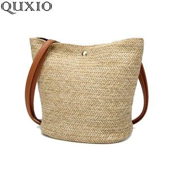 Female Casual Tote Straw Bag Women 2018 New Summer Beach Bag For Ladies Girl Handmade Weaving Shoulder Bags Bolsa Feminina