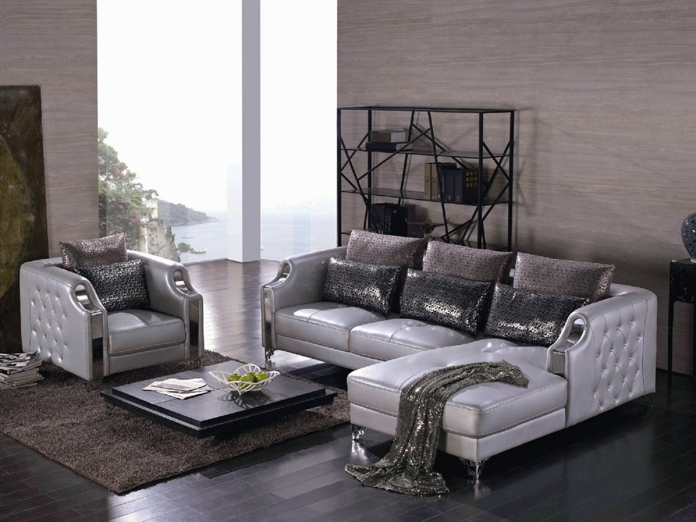High Quality Luxury Design Leather Sofa Set for Villa ...