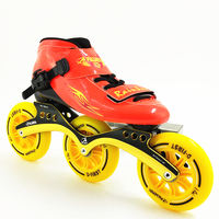 Professional inline Speed Skate Shoes 3 Wheels Roller Skates Women/Men Inline Skating Boots Adults/Child 2018 New Sport Shoes