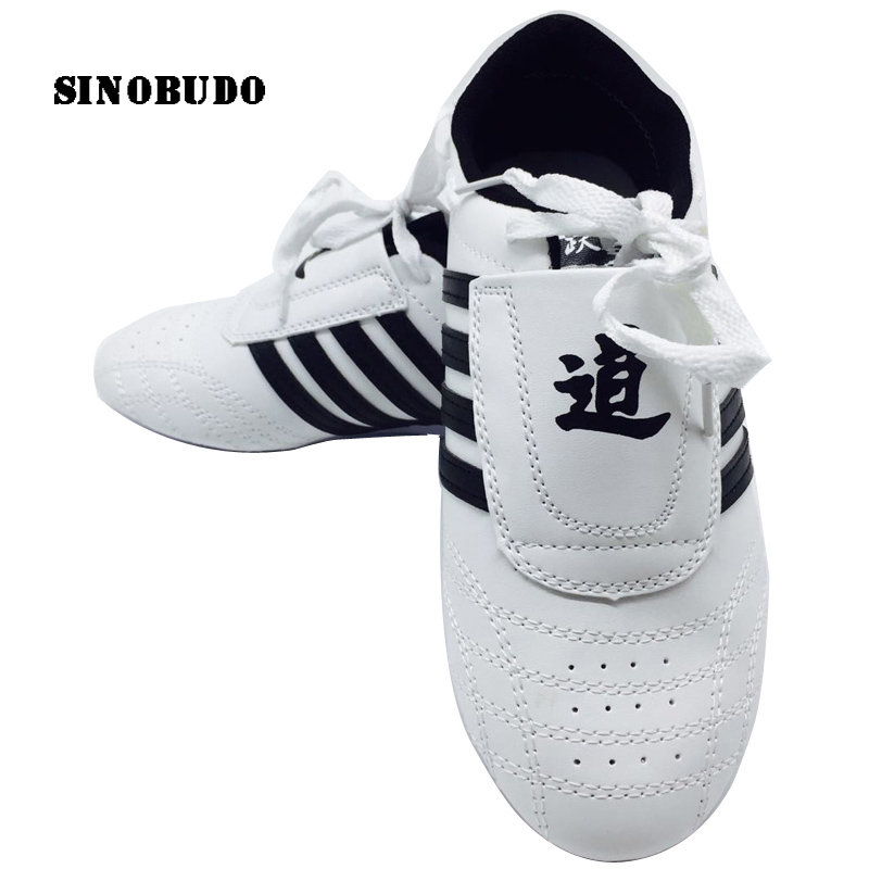 Shoes White Martial-Arts Taekwondo Tkd Kung-Fu Classic Adult Sports Children's