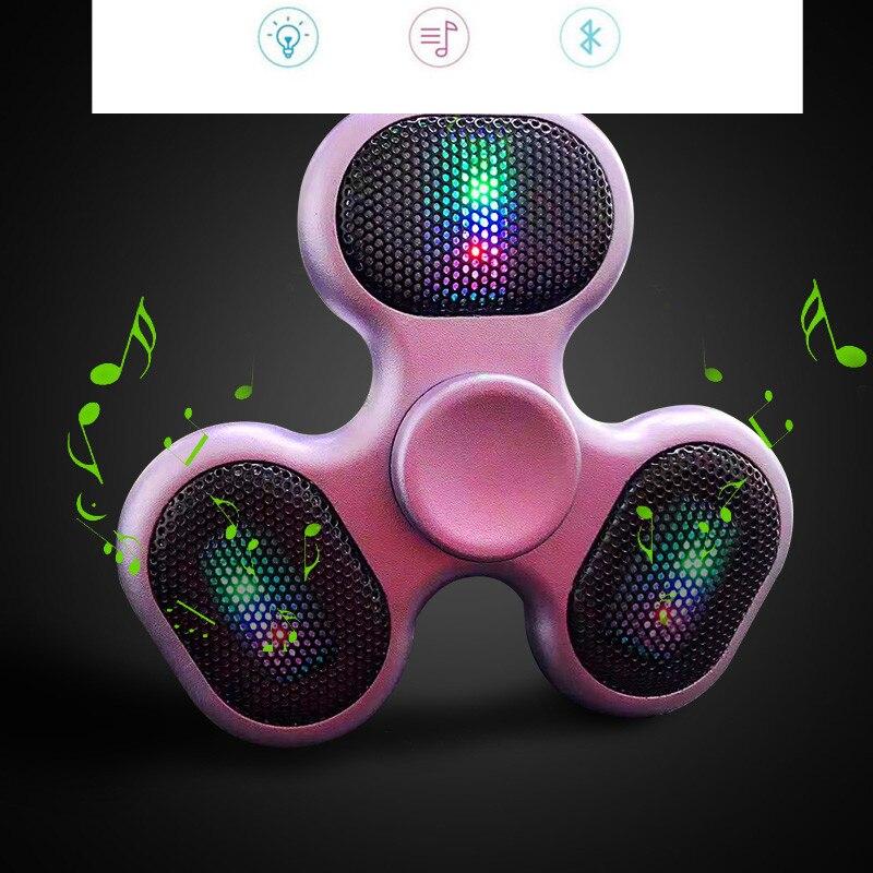 Fidget Spinner Bluetooth Speaker loud speakers Hand Spinner with TF Card slot Tri Finger Spinning Top