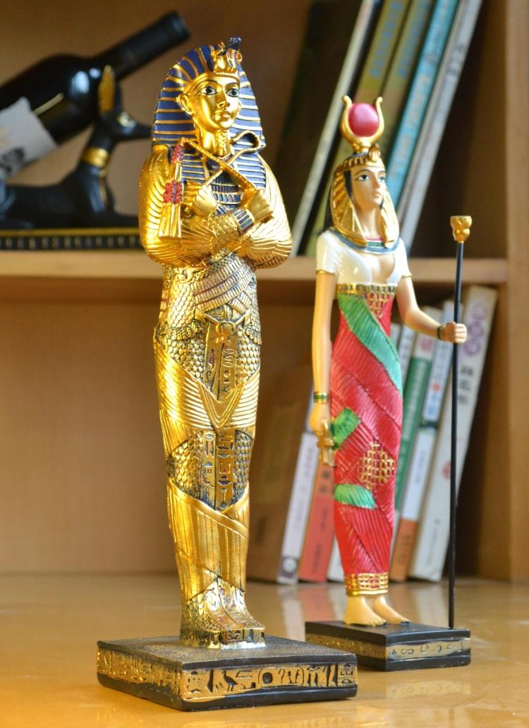 Egypten Pharaoh Resin Craft Dekorativa Figuriner Egyptisk Farao Statu Craft Jul Heminredning Pyramid Resin Craft Presenter