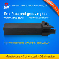 Zhuzhou Sant cnc 절삭 공구 Grooving tool holder FGHH425R-35/48 with Korloy 인서트 FMM400R-04 해외 판매