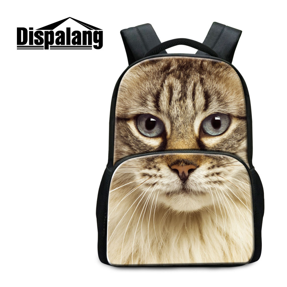 Fashion Womens Laptop School Backpack Cat Dog Animal Print Children Large School Bag for Teenagers Leisure Mens Travel Bags new 3d animal dog cat printing children school backpack 17inch student school bag casual men s backpack laptop bagpack mochila