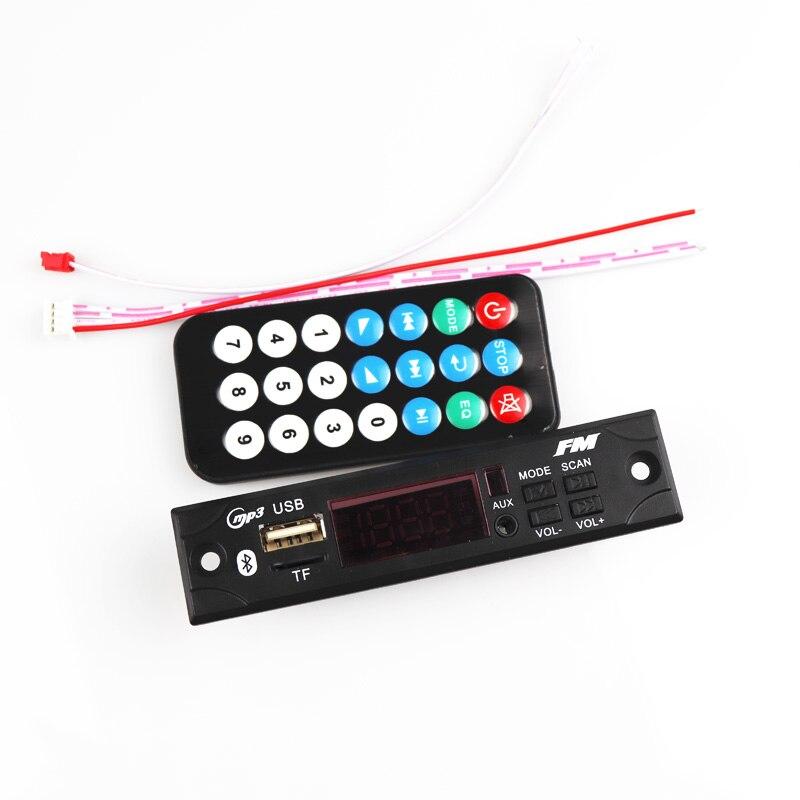Car Mp3 Decoder 12V Audio USB TF FM Radio Module Wireless Bluetooth MP3 WMA Decoder Board MP3 Player With Remote Control For Car