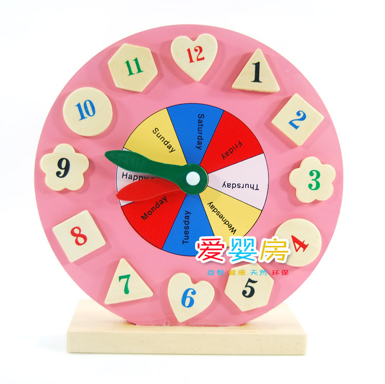 Toys For 3 5 Year Olds : Free shipping digital shape clock building blocks child
