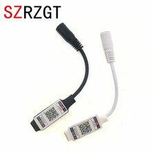 وحدة تحكم صغيرة RGB تعمل بالبلوتوث تيار مستمر 5 فولت 12 فولت 24 فولت وحدة تحكم صغيرة للموسيقى تعمل بالبلوتوث شريط إضاءة لوحدة التحكم RGB RGBW LED