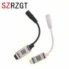 Wifi Mini RGB kontroler bluetooth DC 5V 12V 24V Mini muzyka kontroler bluetooth listwa oświetleniowa kontroler dla RGB dioda led rgbw taśmy