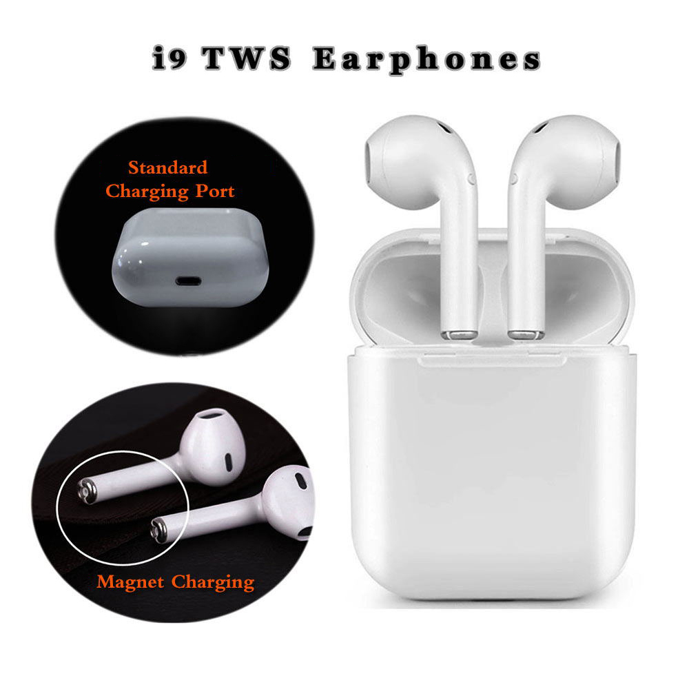Kopfhörer Magnetische Ladegerät Box Earbuds I9 TWS Bluetooth Kopfhörer Mini Wireless Headset Stereo Kopfhörer Alle smart Kopfhörer