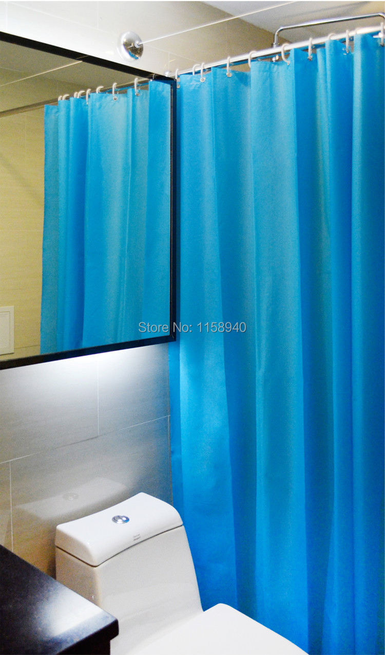 1 pcs solid color curtain for the bathroom green Waterproof anti ...