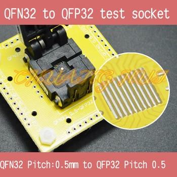 IC TEST QFN32 to QFP32 test socket WSON32 DFN32 MLF32 QFN32 0.5mm to QFP32 0.5mm SOCKET