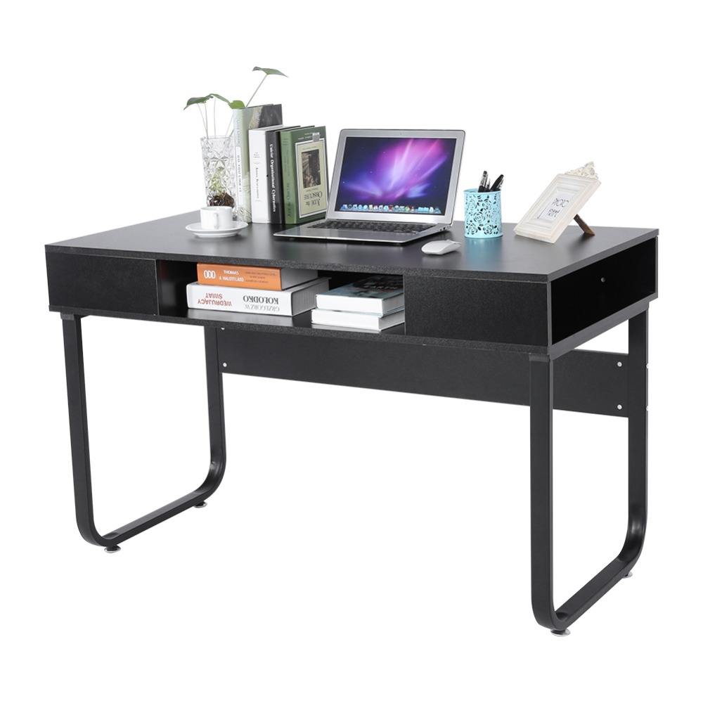 For Home Office Study Worksation Desk Modern Computer Desk Table With Storage Drawer Mouse and Keyboard Stand Holder kingfom 5 pcs modern upscale leather office supplies sets stationery storage box mouse pad card holder desk sets brown t50h