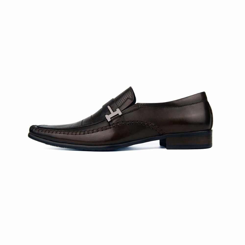 Homens vintage vestido sapatos marca de couro genuíno homens esculpidos sapatos casuais masculinos negócios sapatos de casamento superstar sapatos plus size