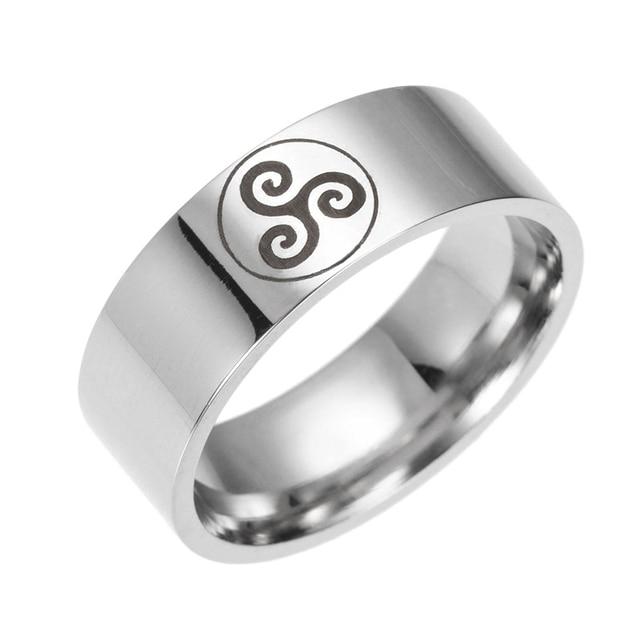 Teen Wolf Logo Stainless Steel Rings movie ring 316 Titanium men and women ring