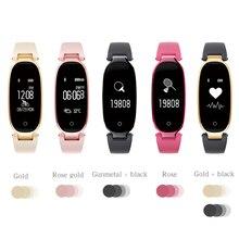 Модные S3 Bluetooth Водонепроницаемый Смарт-часы Для женщин Дамы монитор сердечного ритма Фитнес Трекер Смарт-часы для IOS и Android