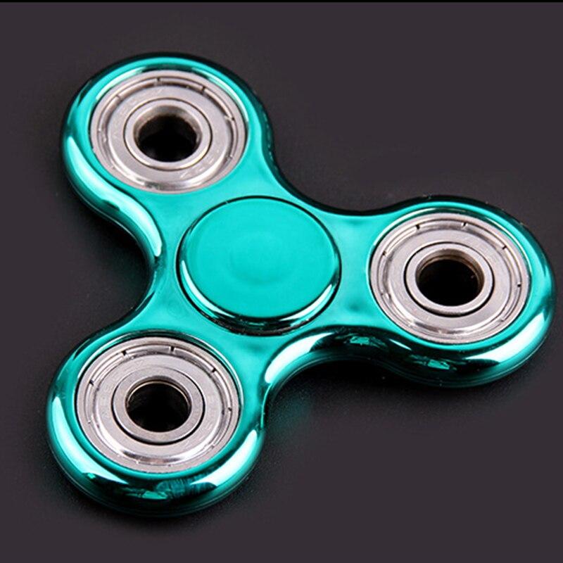 New Colorful Plastic Tri-Spinner Fidget Focus Toy Ceramic EDC Hand Finger