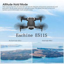 Eachine E511S, 2,4G, 4 canales, GPS, giroscopio dinámico de 6 ejes, Follow WIFI FPV con cámara de 1080P, 16min, tiempo de vuelo, helicópteros, cuadricóptero RC