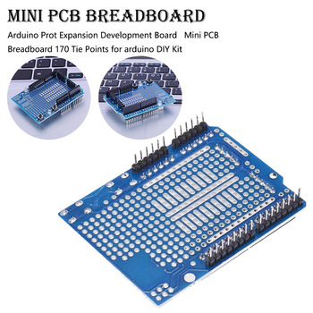 Prototype Shield V3.0 Expansion Development Board + Mini PCB Breadboard 170 Tie Points for Arduino DIY Tool Parts