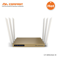COMFAST 2.4Ghz+5.8G 750Mbps Dual Band 802.11ac wireless wifi router repeator with 6*6dBi WI FI antenna high power wi fi router