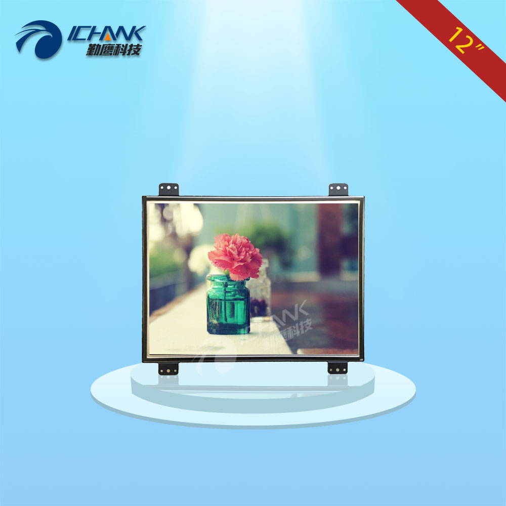 ZK120TN-DV2/12 inch 1024x768 4:3 metal case DVI VGA Embedded Open frame industrial equipment special monitor LCD screen display zk150tn dv 15 inch 1024x768 4 3 hd metal case open frame