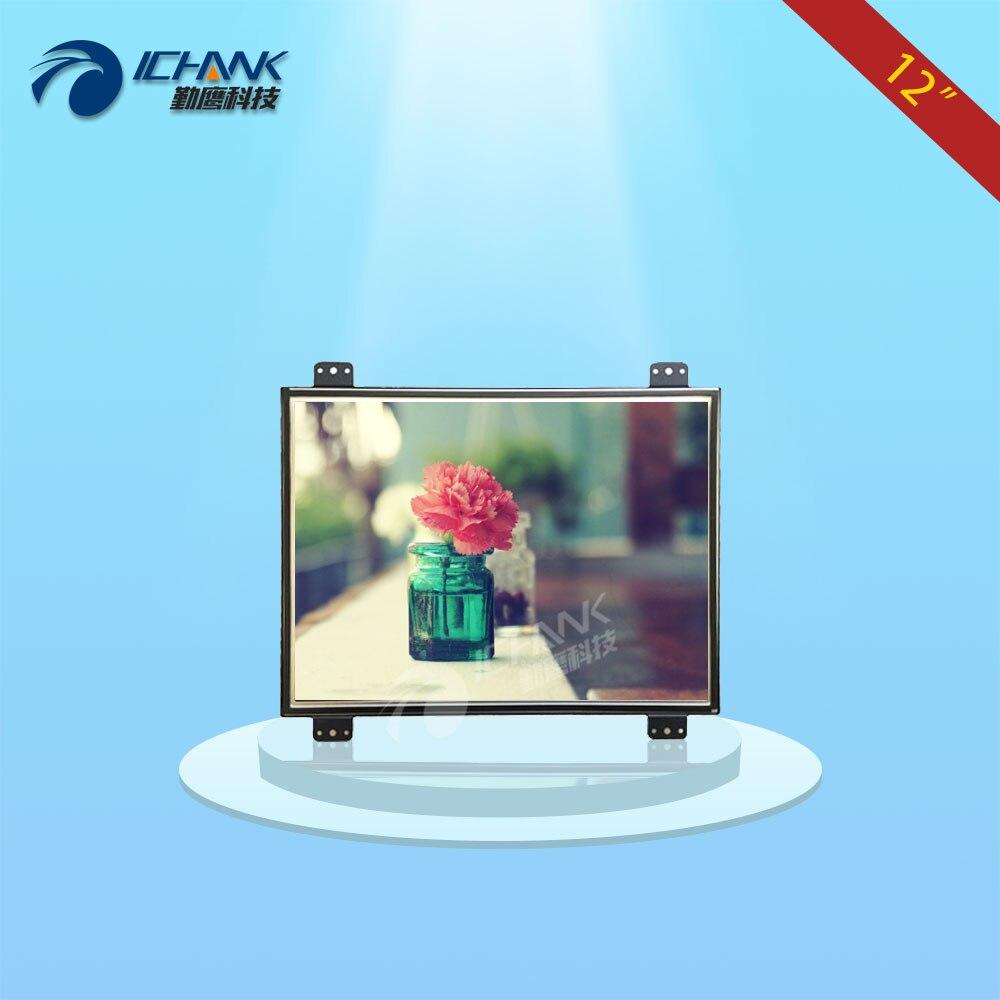 ZK120TN-DV2/12 pollice 1024x768 4:3 cassa del metallo DVI VGA Integrato attrezzature speciali Open frame industriale monitor LCD schermo di visualizzazione dello schermo