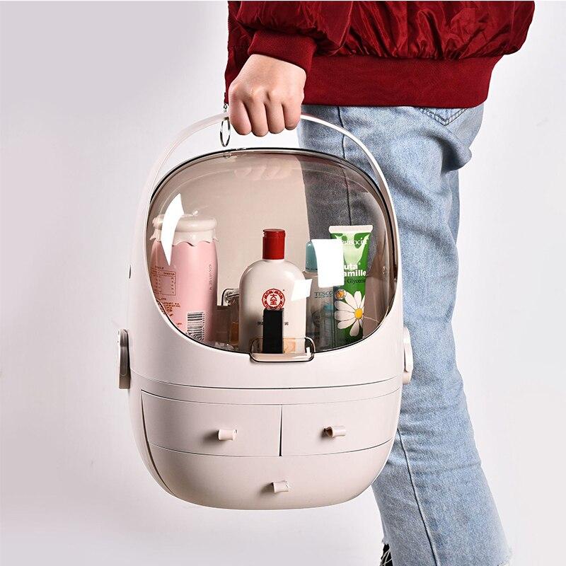 QMJHVX acrylique en plastique maquillage organisateur salle de bain armoire tiroir cosmétique boîte de rangement maquillage rouge à lèvres bijoux cosmétique organisateur