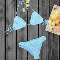 Fashion High Quality Women Handmade Crochet Triangle Bikini Set