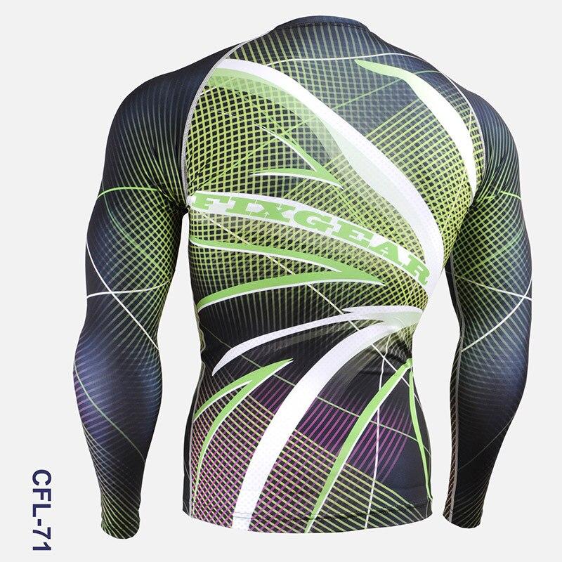 Vêtements de cyclisme hommes 2016 impression complète Gym activité de plein air collants à manches longues chemises de vélo pour hommes course entraînement chemises de sport - 4