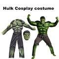New Avengers Hulk Costumes for kids/ Fancy dress/Halloween Carnival Party Incredible Cosplay Boy Kids dress
