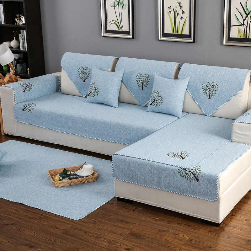 L على شكل غطاء أريكة مضاد للانزلاق أريكة الأغلفة الكتان عدم الانزلاق الزخرفية غطاء أريكة s لغرفة المعيشة الأريكة حامي أريكة الحصير