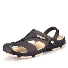 2019 NEW Men's Sandals Summer Hollow Soft Bottom Beach Slippers Men Anti-Slip Flip Flops Male Sandals Water Shoes men trendy soft anti slip flip flops slippers