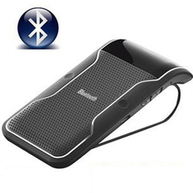 US $20 09 18% OFF|Car Bluetooth Kit Handsfree Car Kit Auto Sun Visor  Wireless Bluetooth Speaker for iPhone etc  Automatic Contact-in Glasses  Case from