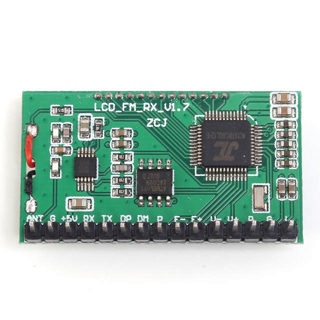 US $5 92 5% OFF|FM Radio Module Serial Port Frequency Modulation Wireless  Audio Receiver Board 3 5V 40mA UART Stereo 500mW 87 0MHz 108 0MHz-in