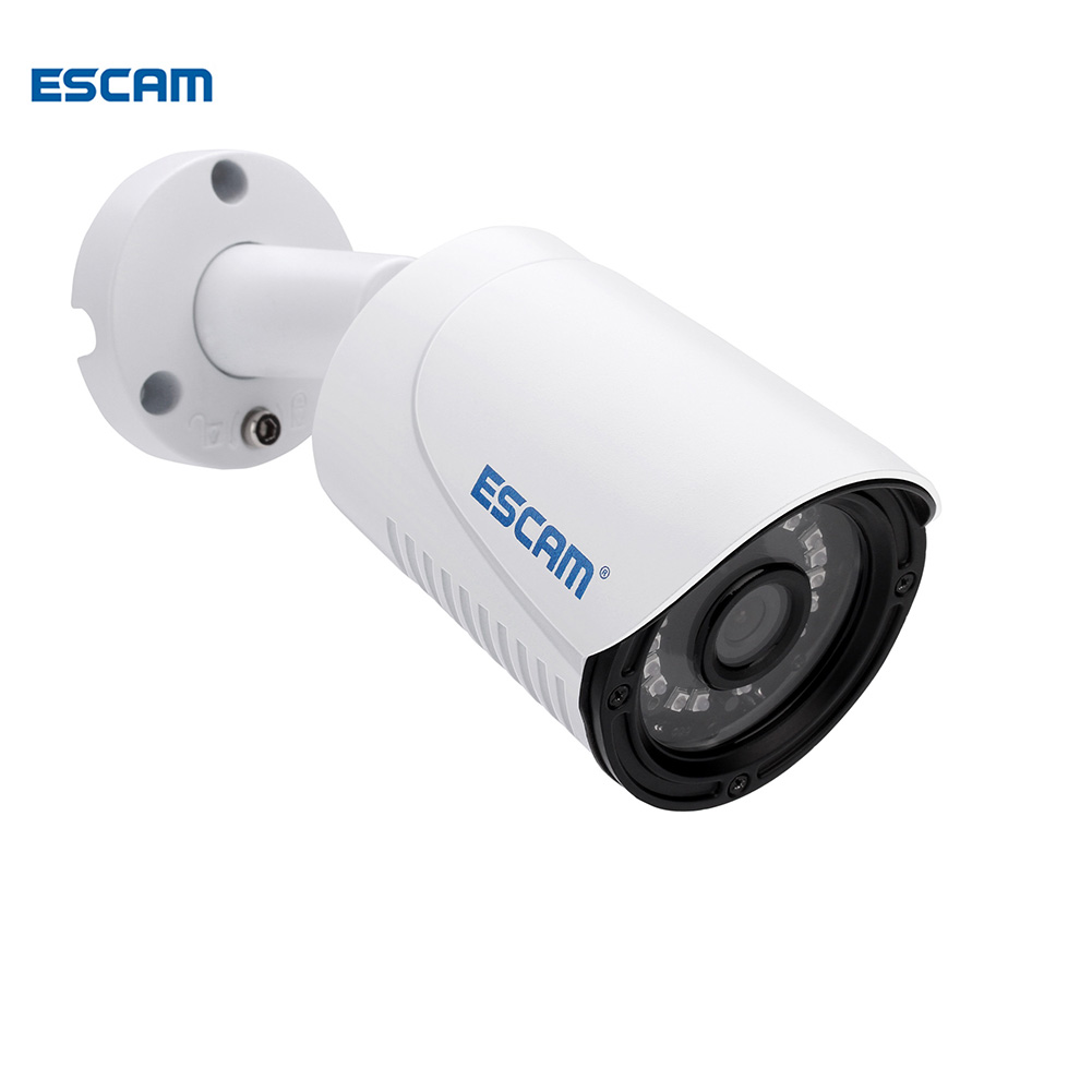 ESCAM Plane QE07 POE 720P Waterproof ip Camera outdoor bullet camera  cam IR-Cut Night Vision IP P2P POE CCTV Security Camera outdoor waterproof white metal case 1080p bullet poe ip camera with ir led for day
