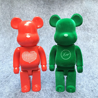 400% 28cm Fashion Be@rbrick Cos Couple Love Bear Flash Bear Toy DIY Graffiti PVC Action Figure Collectible Model Toy H117
