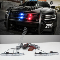 4x4 Led 4 In 1 Wireless Remote 12V Strobe Warning Light Flashing Firemen Lights Car Truck