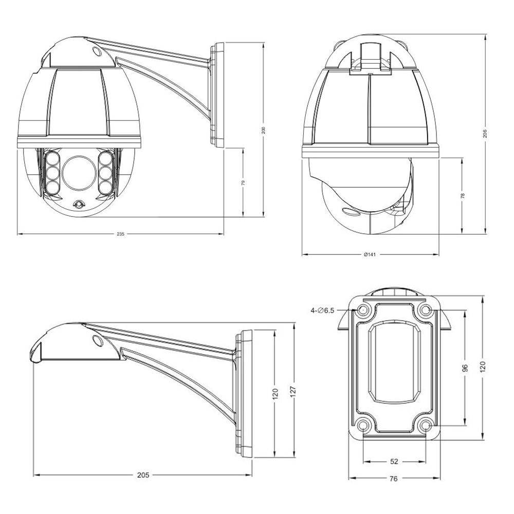 20mp Mini High Speed Dome Camera Security Surveillance 10 X Zoom Quickswitch Highspeed Cmos Ahd Tvi Cvi Analog Ptz Hd 1080p Ir Cctv 51 51mm 4 In 1 Cameras