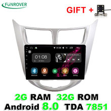 2018 New Funrover 2g+32g Android 8.0 Car Dvd Gps Player 9 Inch For Hyundai Solaris Verna Radio Video Navigation Wifi Bt Map Fm