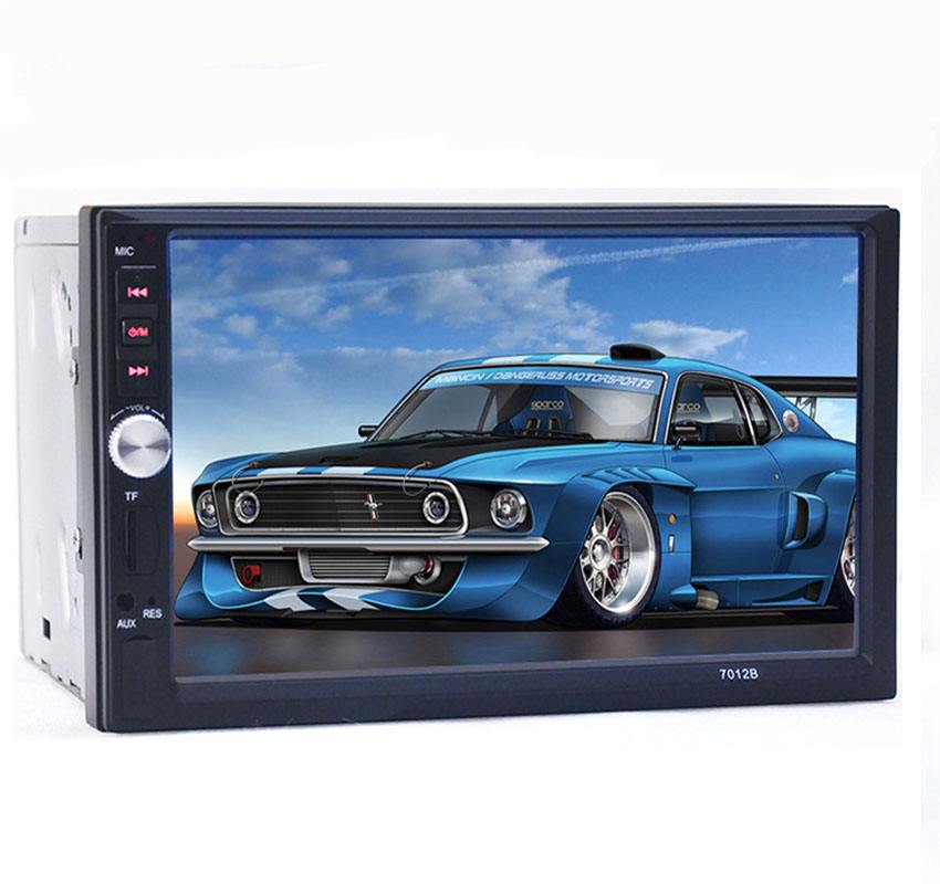 7'' Inch LCD Touch Screen Universal 2 Din Car Video Player Car DVD Car Audio Player Support FM/MP5/USB/AUX Auto Electronics